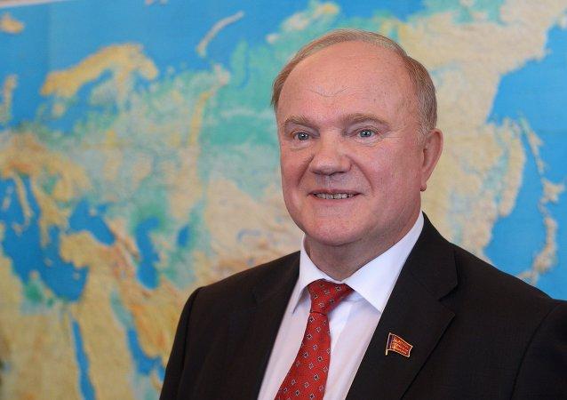 Líder del partido comunista ruso, KPRF, Guennadi Ziugánov