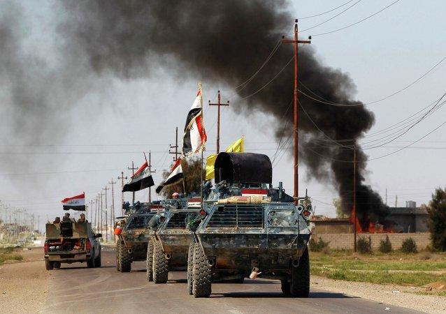 Vehículos blindados de las fuerzas de seguridad iraquíes