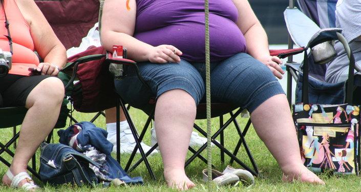 Una mujer gorda