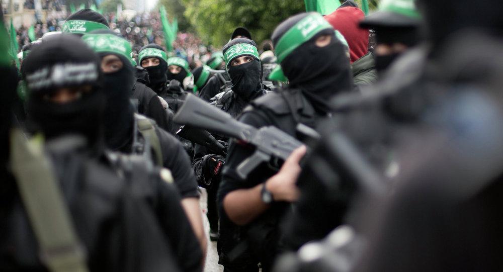 Militantes del grupo Hamás