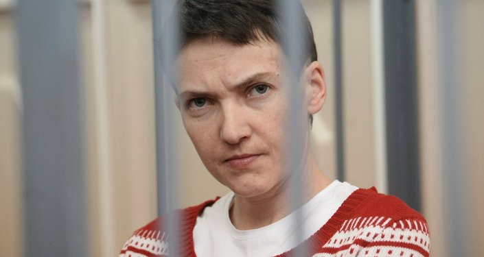 Nadezhda Sávchenko durante la audiencia (archivo)