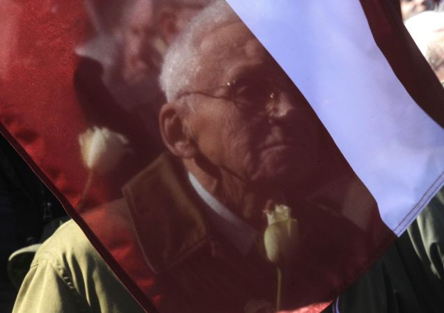 Marcha de los ex legionarios letones de las Waffen SS en Riga (Archivo)