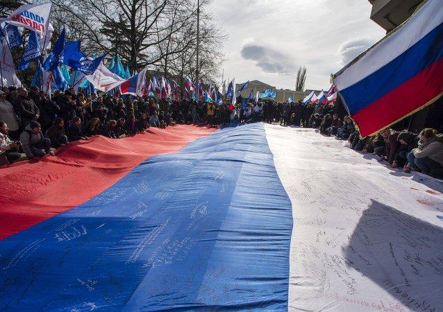 Aniversario de la reunificación de Crimea con Rusia en Simferopol (archivo)
