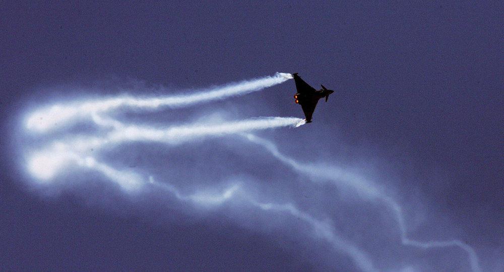 Un caza Eurofighter Typhoon (archvio)