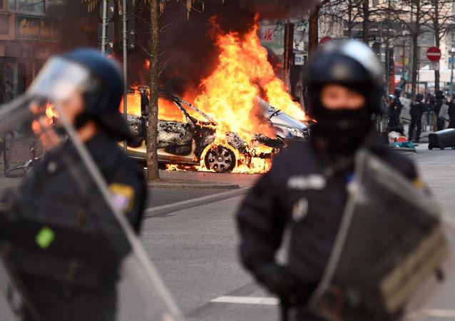 Disturbios en señal de protesta contra la política del BCE