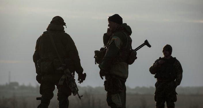 Soldados ucranianos