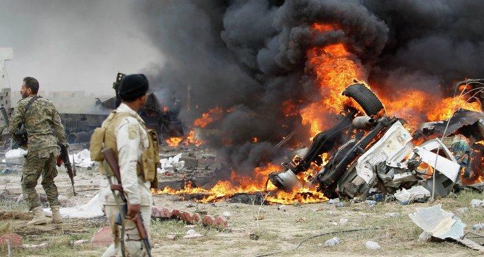 Explosión en Irak (archivo)