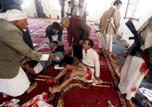 Al menos 40 muertos en una cadena de atentados en la capital de Yemen
