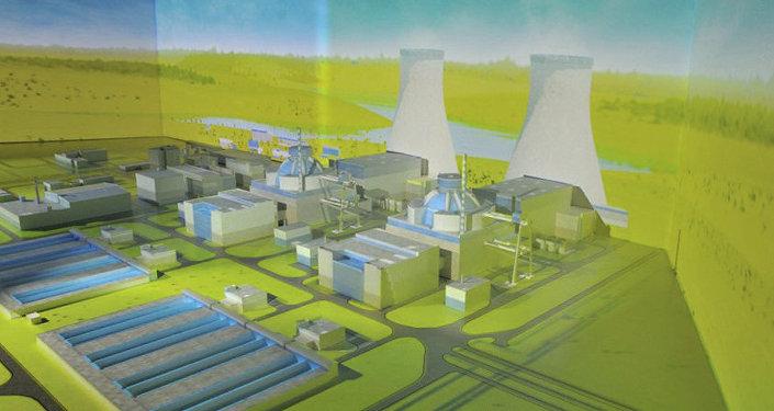Maqueta de la central nuclear Akkuyu en Turquía