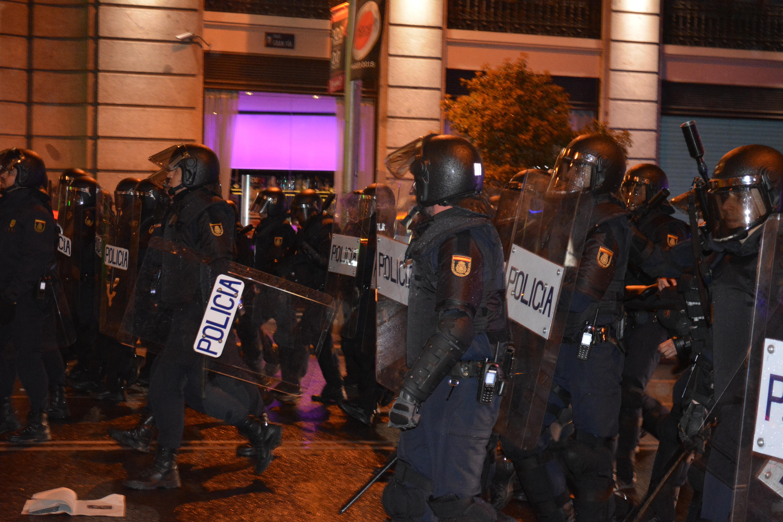 Policía en la Marcha de la Dignidad en Madrid