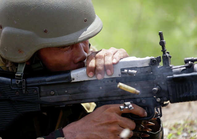 Soldado filipino (Archivo)