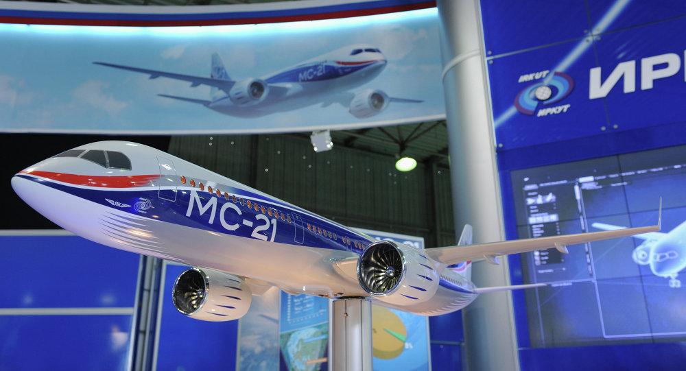 Макет ближне-среднемагистрального самолета МС-21