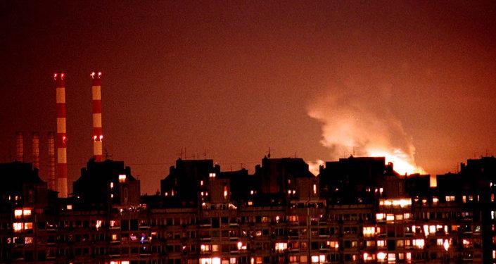 Los primeros bombardeos de la OTAN sobre Yugoslavia