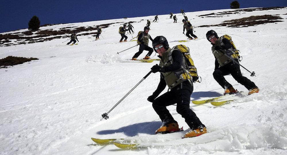 Estación de esquí  de Candanchú en Pireneo aragonés
