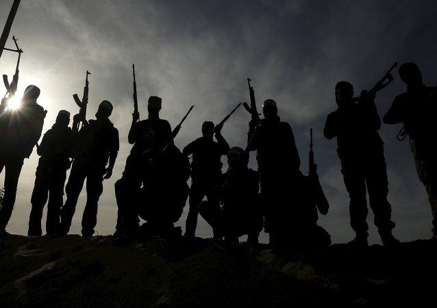 Militantes palestinos