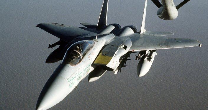 Avión F-15 de Arabia Saudí