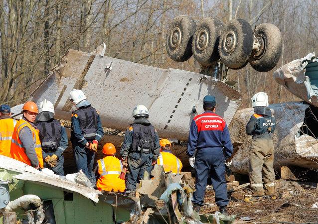 El accidente del avión presidencial polaco