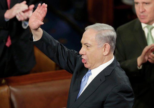 Primer ministro de Israel, Benjamín Netanyahu, durante su discurso ante el Congreso de EEUU