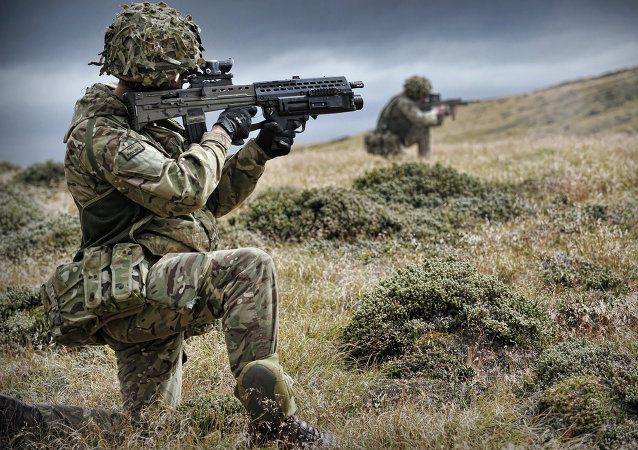 Soldados británicos en las Malvinas