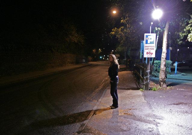 Una prostituta en Ipswich, Reino Unido
