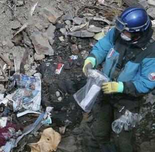 Restos del avión de Germanwings accidentado en los Alpes