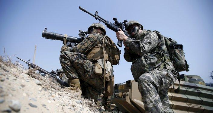 Militares de Corea del Sur en maniobras (archivo)