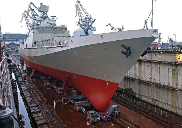 Botadura de la nave de patrullaje Almirante Essen