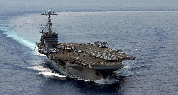 Portaviones USS George Washington de la Flota del Pacífico de EEUU en el Mar del Sur de China