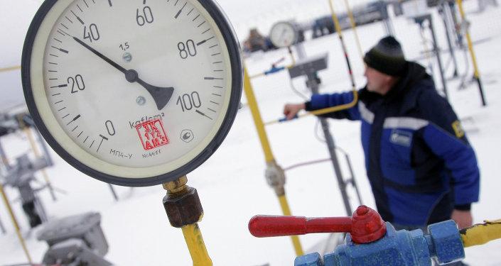 Estación de gas en Ucrania occidental