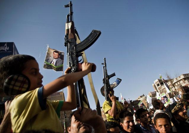 Rebeldes hutíes