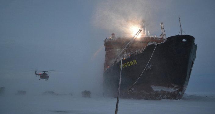 Un rompehielos ruso en el Artico. Los navíos atómicos actuales serán gradualemnte reemplazados por los nuevos proyectos, como Árktika y Líder