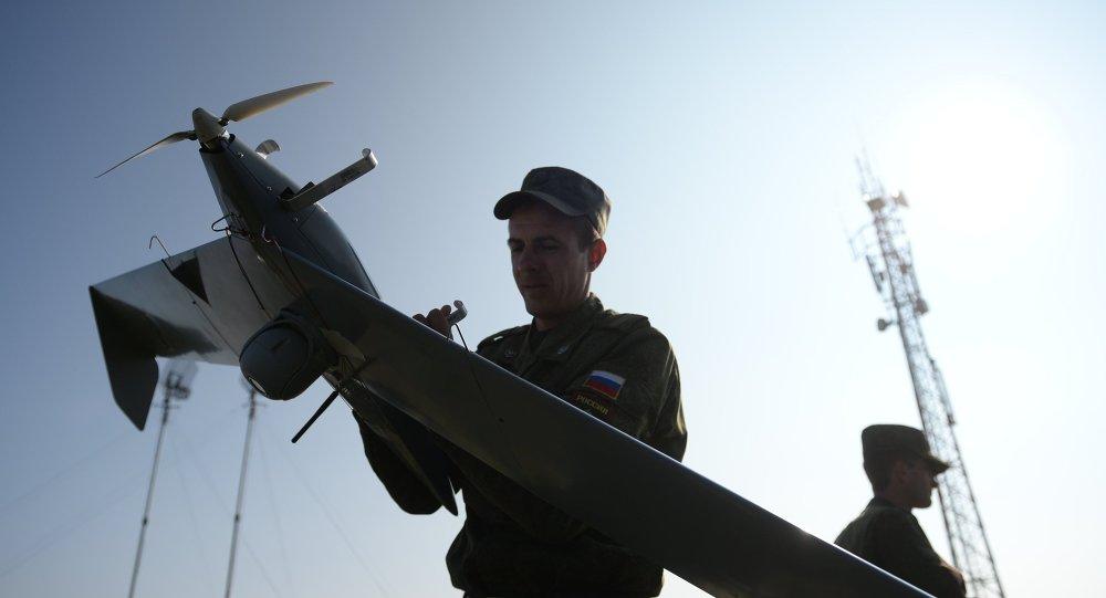 Dron ruso Zastava durante las maniobras en la región de Cheliábinsk