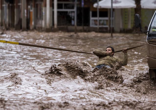 Consecuencia de las lluvias en Copiapo, Chile (archivo)