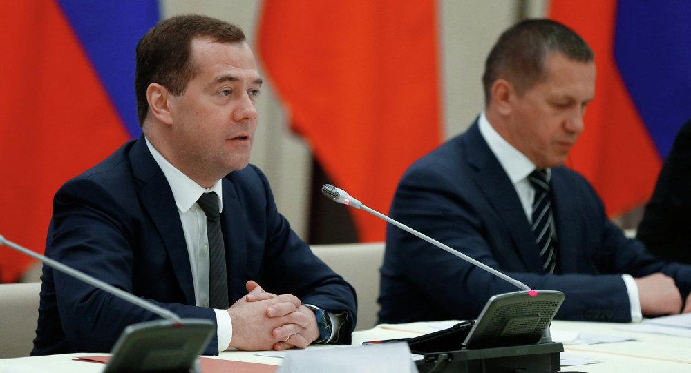 Dmitri Medvédev durante su visita a Vietnam