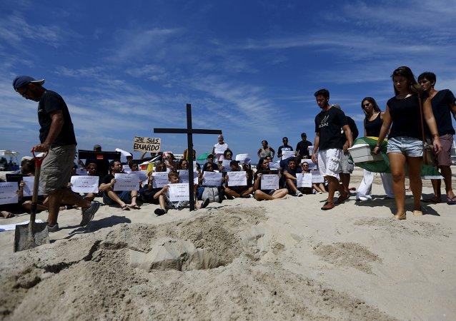 Manifestación en Copacabana por Eduardo de Jesús Ferreira