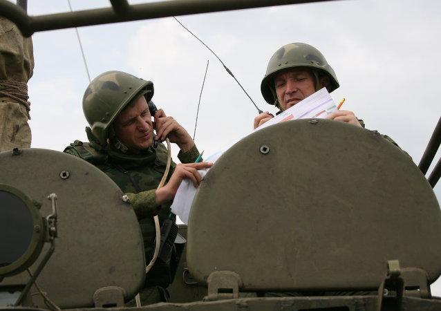 Militares de la infantería mecanizada rusa (archivo)