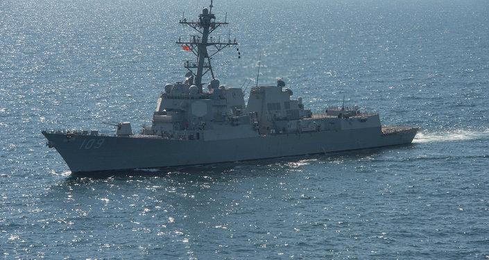 Buque estadounidense en el mar Negro