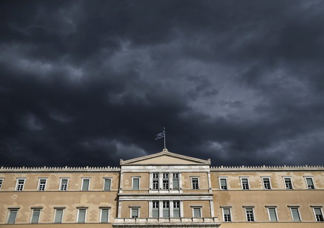 Edificio del parlamento de Grecia