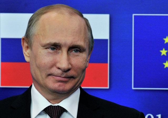 El presidente de Rusia Vladímir Putin en la cumbre UE-Rusia en Bruselas (archivo)