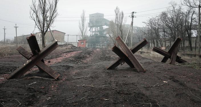 Uno de los poblados de Donbás, destruido durante de los combates en la región