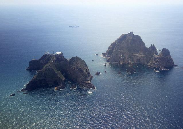 Las rocas de Liancourt (Takeshima en japonés, Dokdo en coreano)
