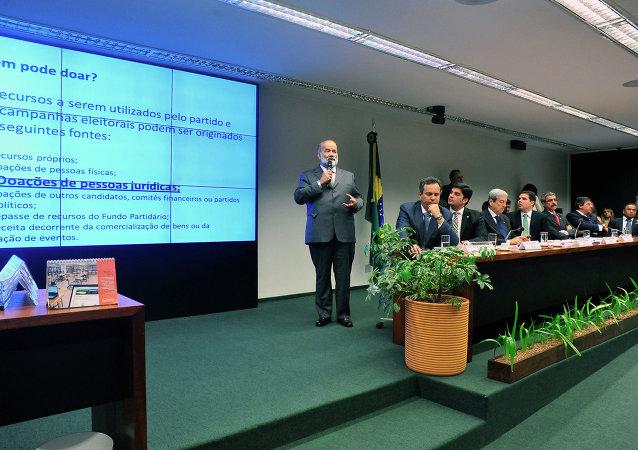 Tesorero del Partido de los Trabajadores, Joao Vaccari Netto, en la Comisión Parlamentar de Investigación (CPI)