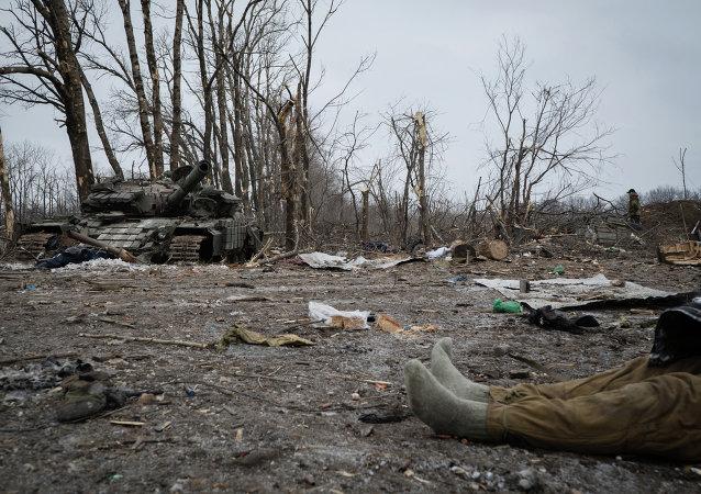 Сuerpo de un soldado ucraniano (Archivo)