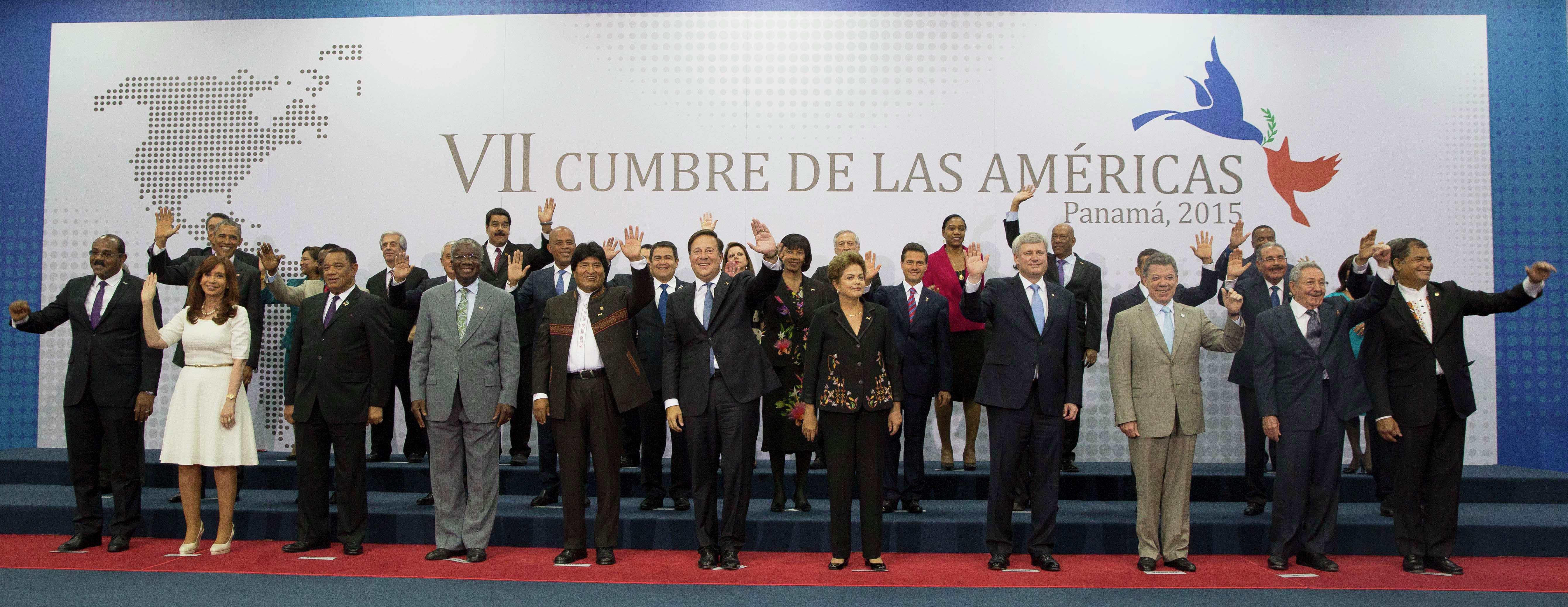 FOTOGRAFÍA OFICIAL. VII CUMBRE DE LAS AMÉRICAS