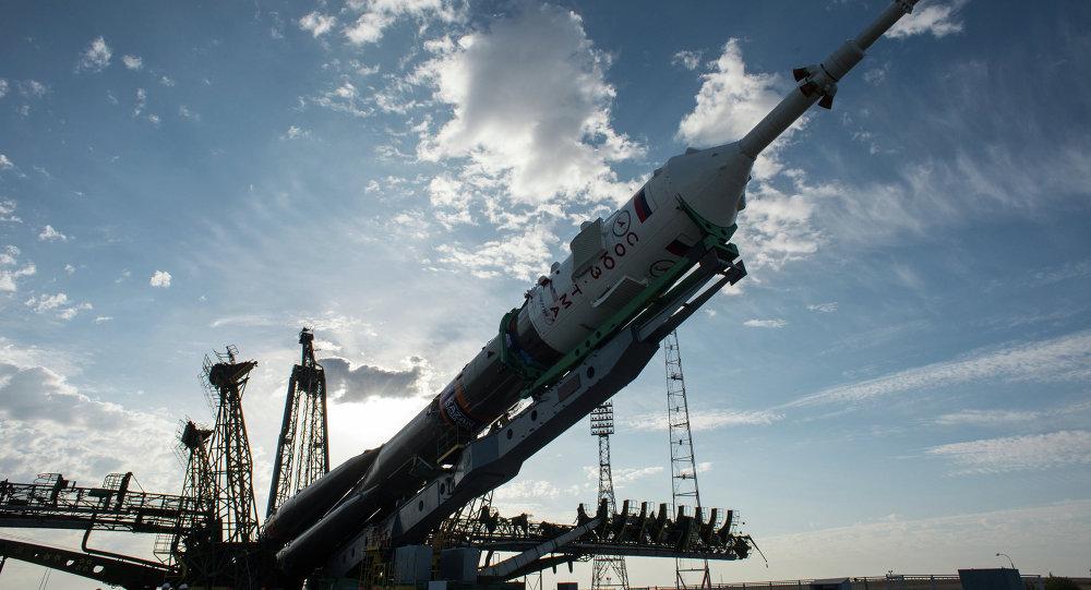 Preparación para el lanzamiento del cohete