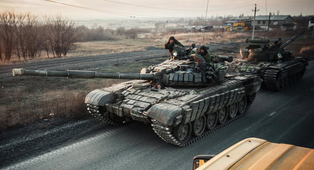 Tanque de milicianos de Donbás