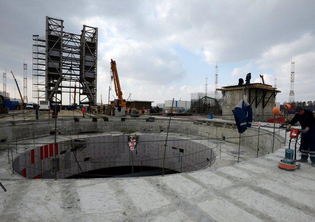 Construcción del cosmódromo Vostochni