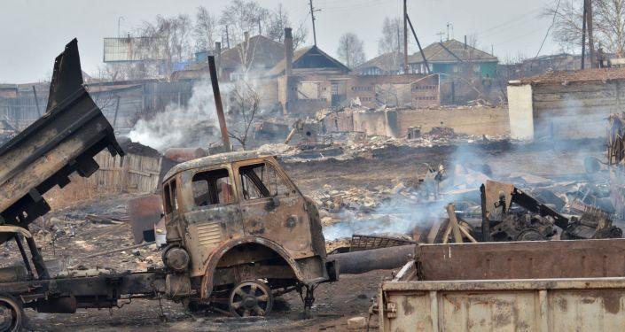 Consecuencias de los incendios en Jakasia (Siberia)