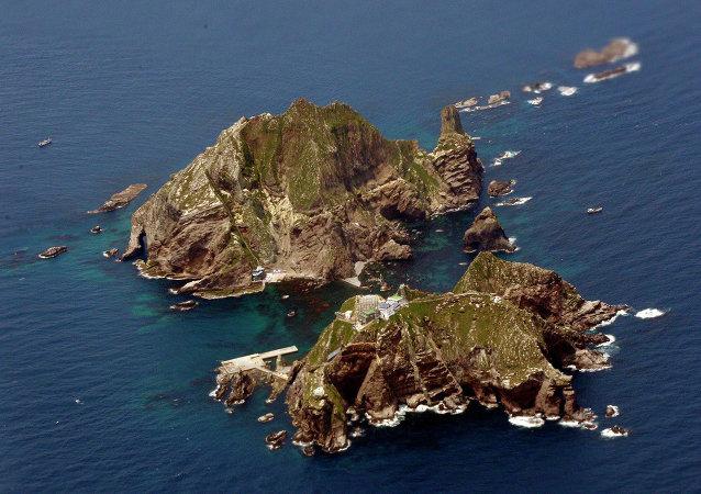 Las islas Dokdo (Takeshima, en Japón)