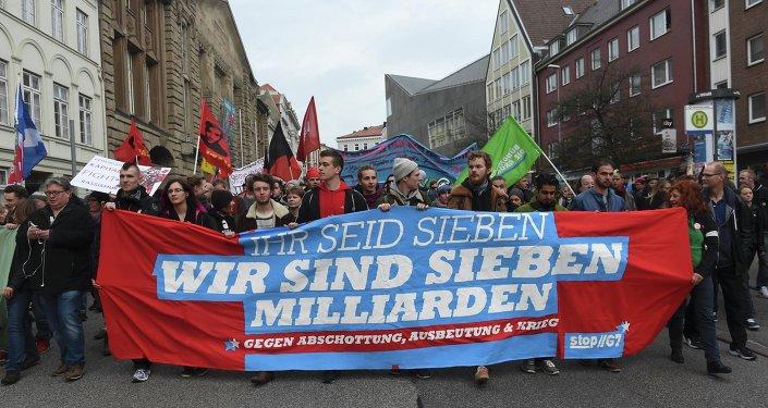 Manifestación en Lubek